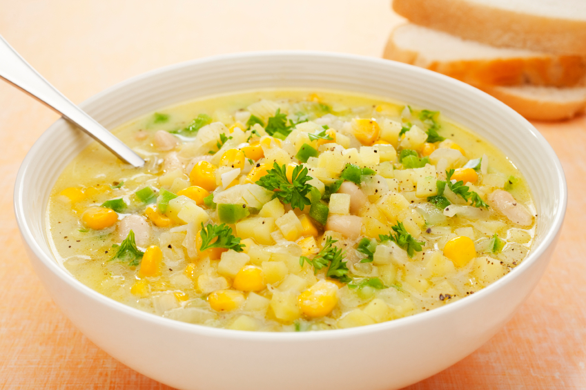 soup with corn and beans