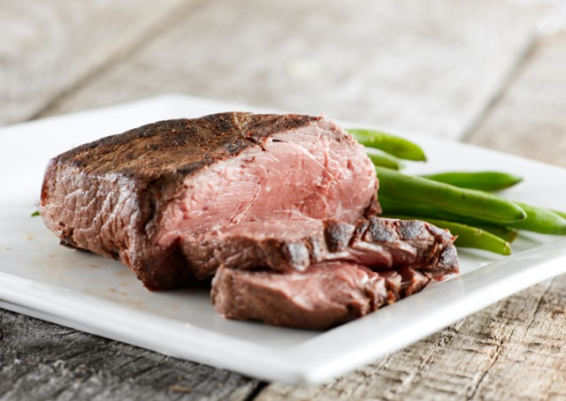 steak and green beans