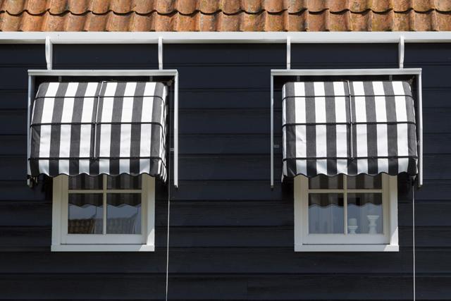 Windows on a house facade