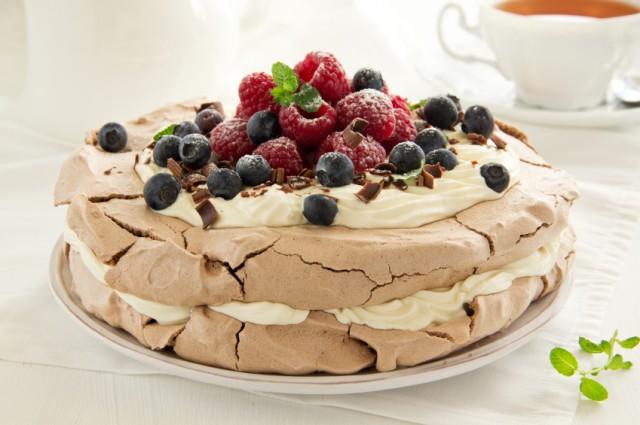 Three-Layer Berry and Brown Sugar Pavlova
