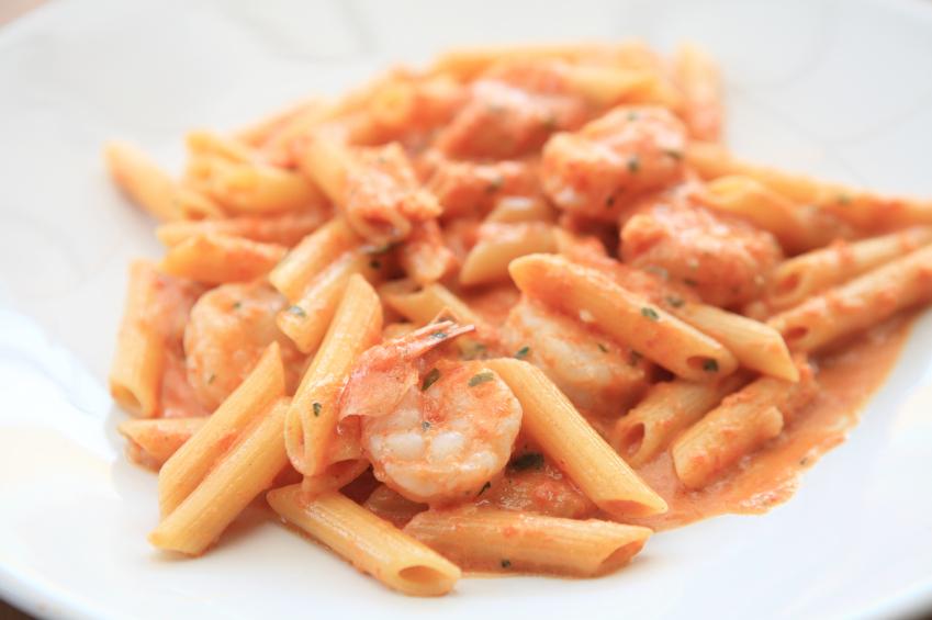 Creamy vodka sauce pasta