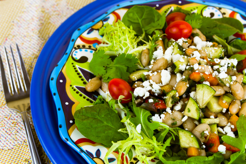 salad with pine nuts and veggies