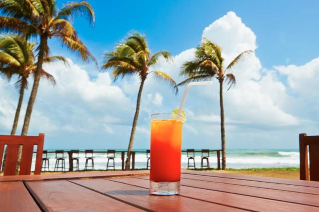 Cocktail, drink, beach