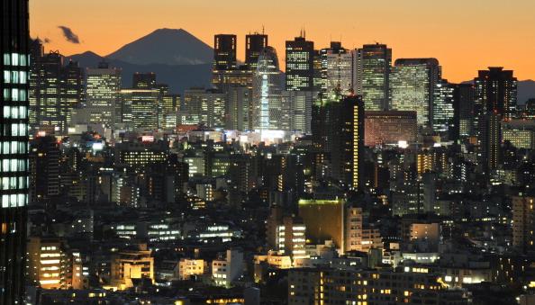 Tokyo, Japan sunset