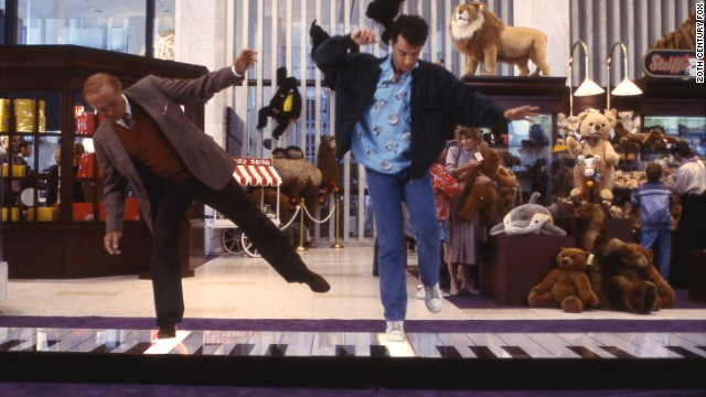 Tom Hanks dances on a toy piano in Big