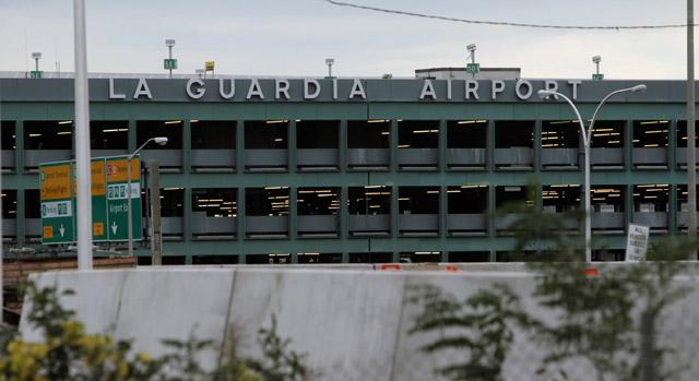 outside shot of La Guardia Airport