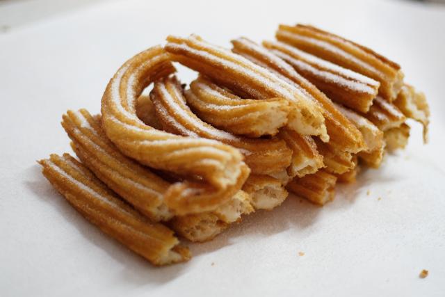 Corn muffin churros