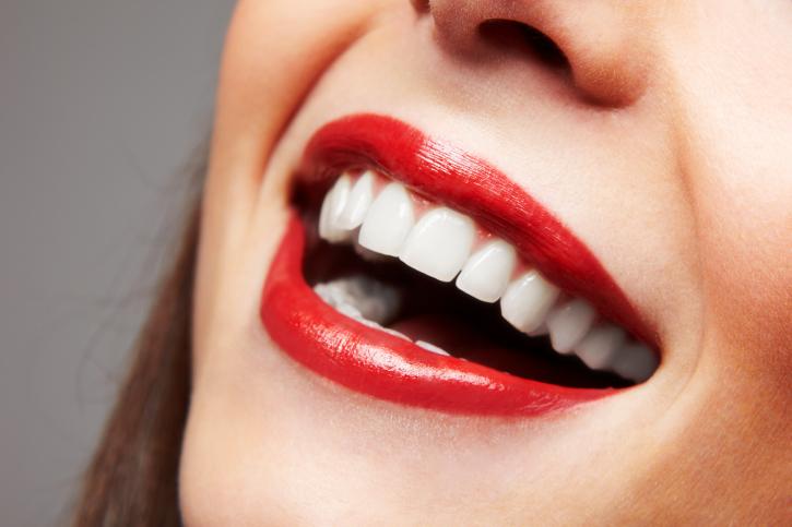 big smile, white teeth