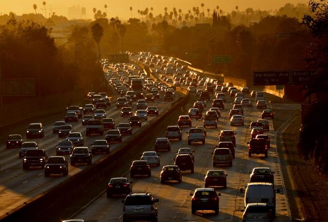 traffic on the freeway