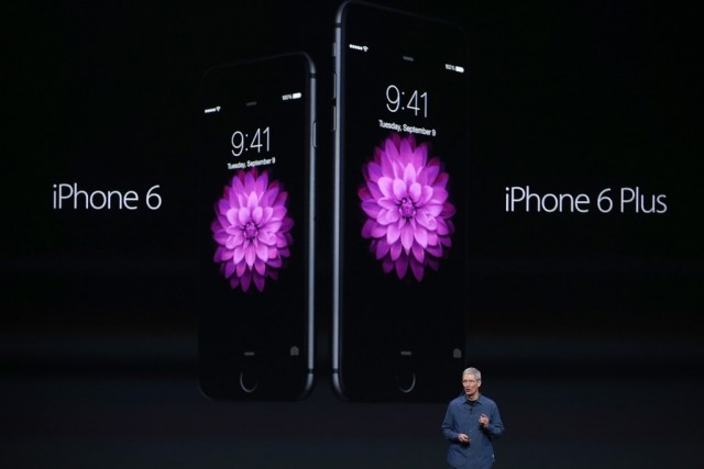 Tim Cook announced the iPhone 6 at Apple's September 9 event
