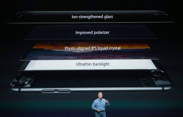 Apple Senior Vice President of Worldwide Marketing Phil Schiller announces the new iPhone 6