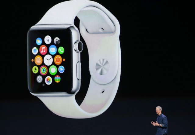 Apple CEO Tim Cook announces the Apple Watch