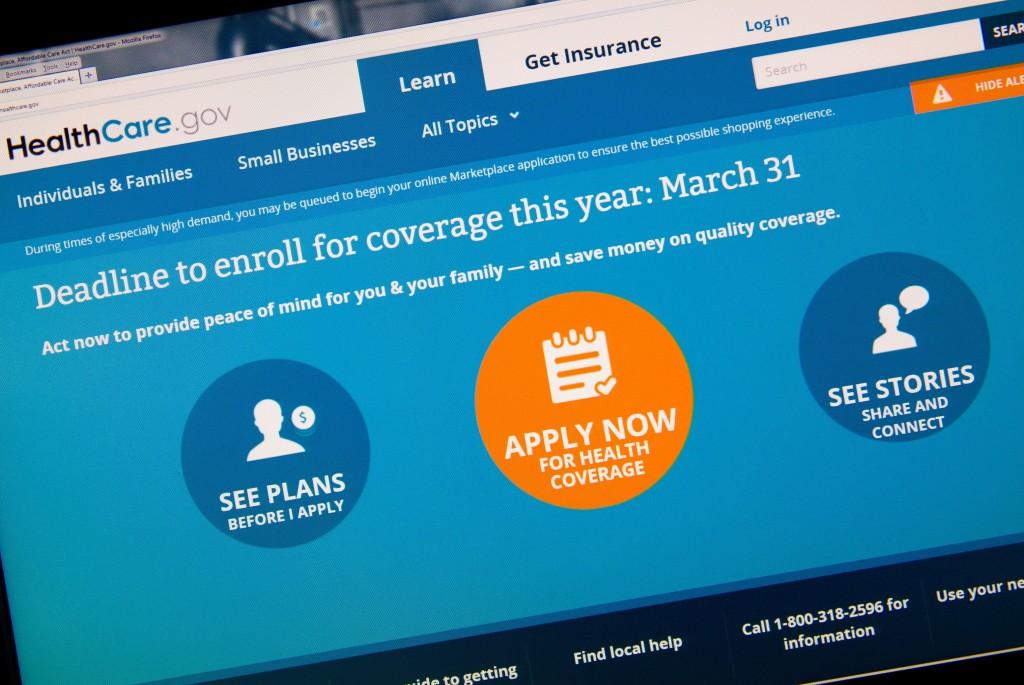 The HealthCare.gov website