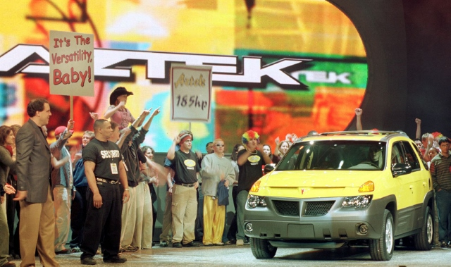 General Motors debuts the Pontiac Aztek at the Nor