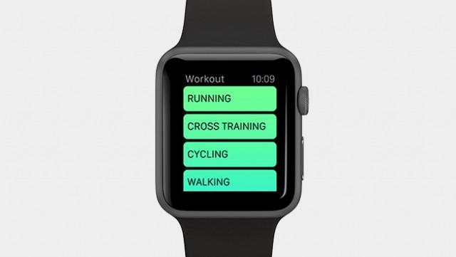 Apple Watch Workout app