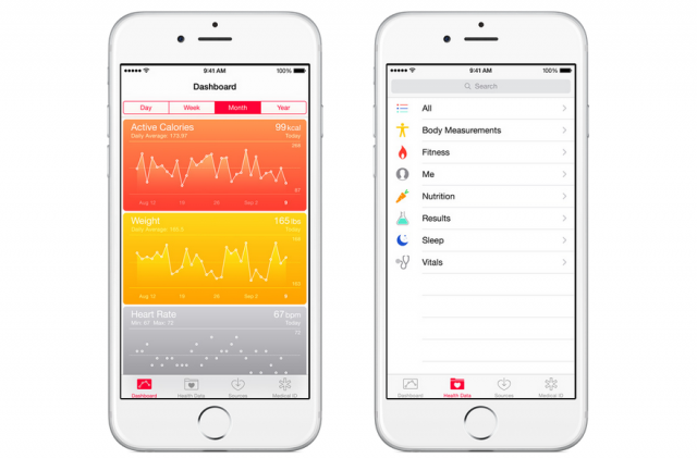 Apple iOS 8 Health app