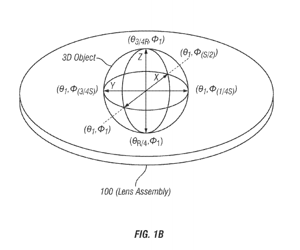Apple patents interactive holographi display device fig 1B
