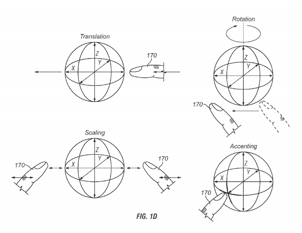 Apple patents interactive holographic display device fig 1D