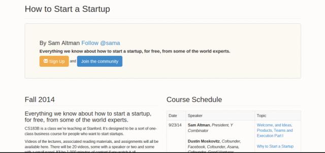 CS183B How to Start a Startup