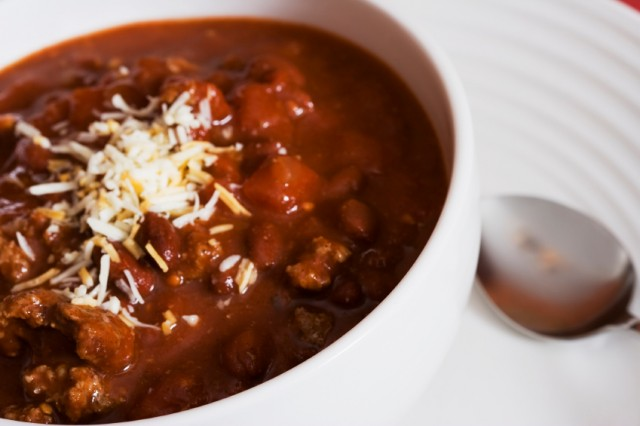 Chili with cornbread in a Mason jar is the best way to get a great meal anytime of the day