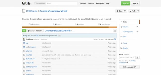 Cosmos Browser GitHub