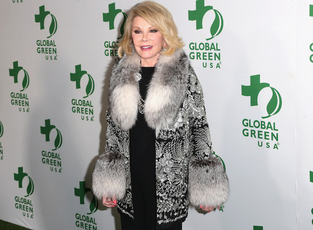 Joan Rivers on red carpet.