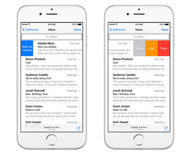 Mail iOS 8