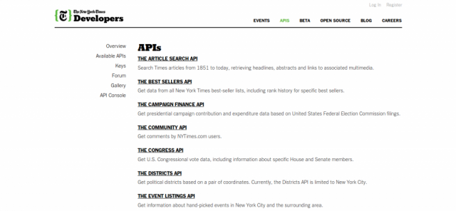 New York Times APIs