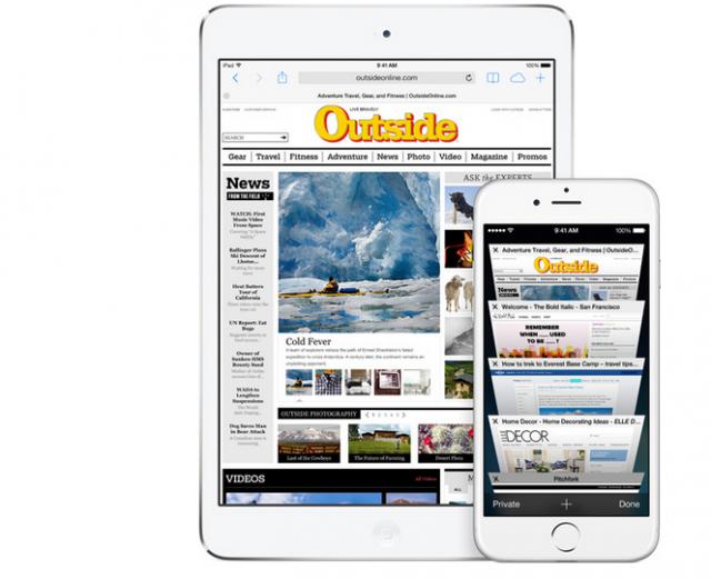 Safari iOS 8