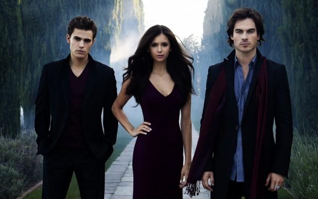 Stefan, Elana, and Damon in The Vampire Diaries