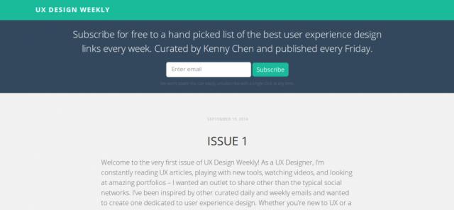 UX Design Weekly