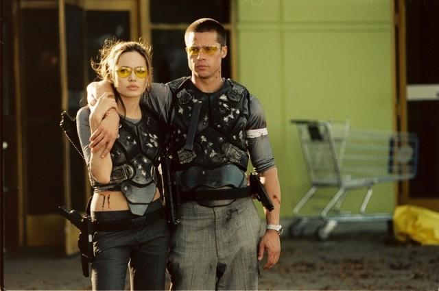 Angelina Jolie and Brad Pitt in Mr. & Mrs. Smith Regency Enterprises