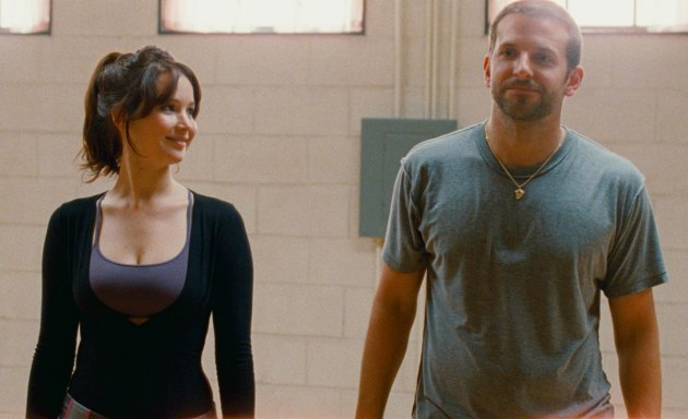 Jennifer Lawrence gazes at Bradley Cooper in Silver Linings Playbook