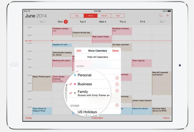 iOS 8 Family Sharing calendar