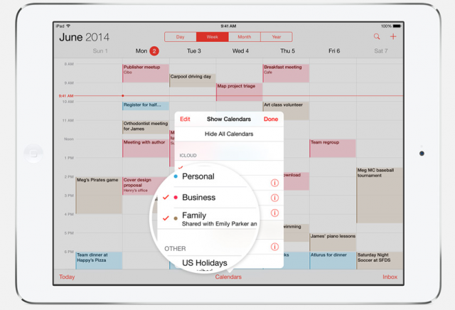 iOS 8 Family Sharing calendar