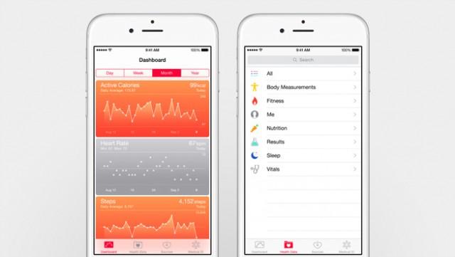 iOS 8 Health app for iPhone 6