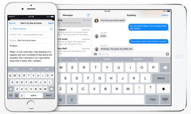 iOS 8 QuickType keyboard