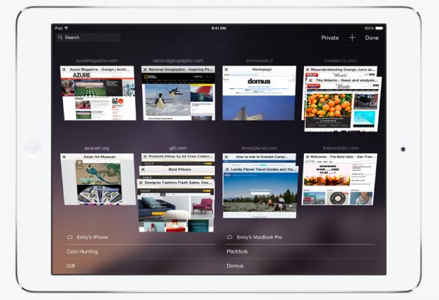 iOS 8 Safari iPad