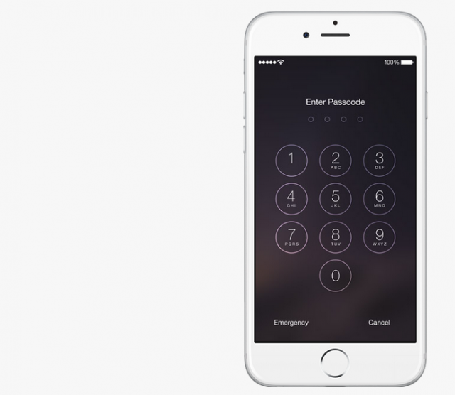 iOS 8 iPhone passcode