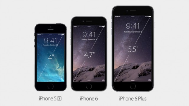 iPhone 6 and iPhone 6 Plus display sizes