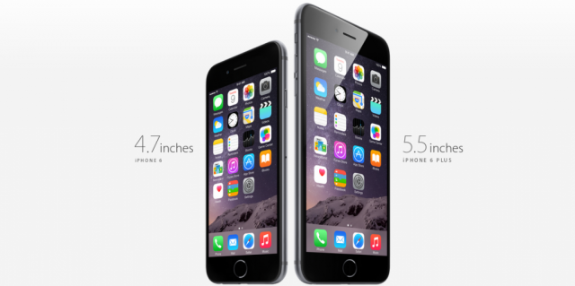 iPhone 6 and iPhone 6 Plus screen sizes