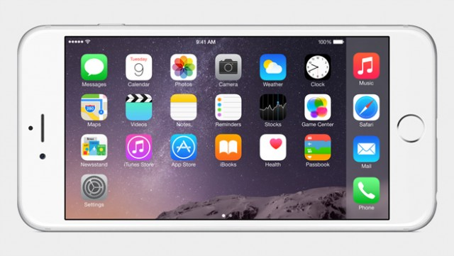 iPhone 6 landscape view for home screen