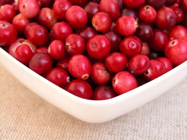 bowl with cranberries