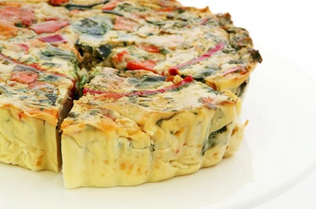 vegan crustless veggie quiche