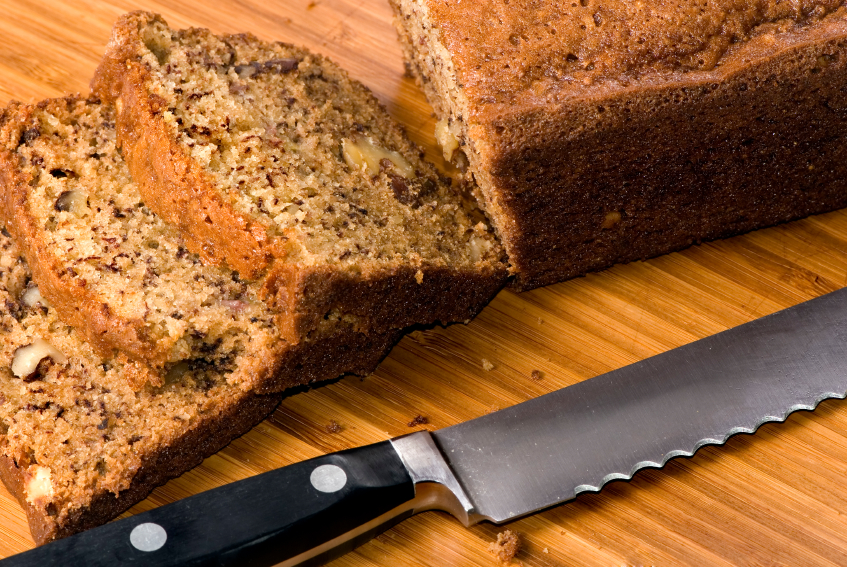Apple flax pecan bread