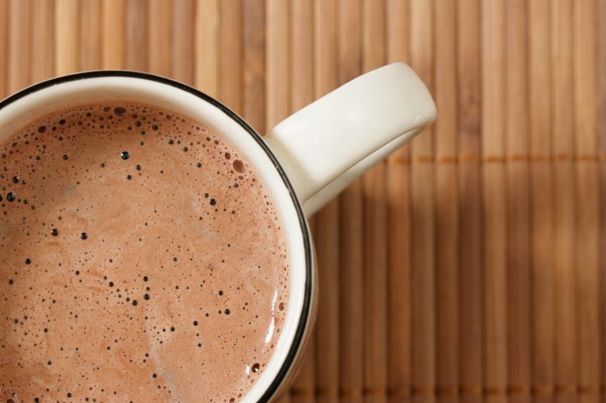 Hot chocolate in a mug