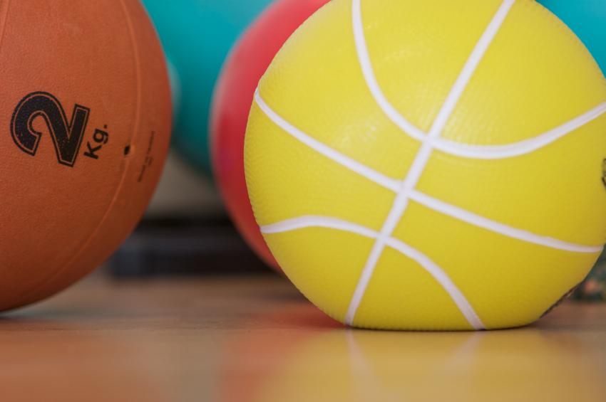 gym, exercise balls