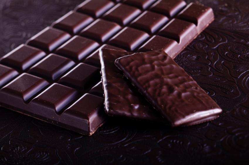 plain dark chocolate and dark chocolate candy bars