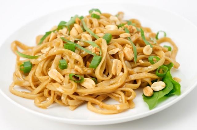 Asian Noodles, peanuts