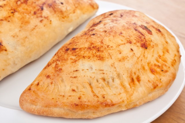 Sausage and mushroom biscuit calzones